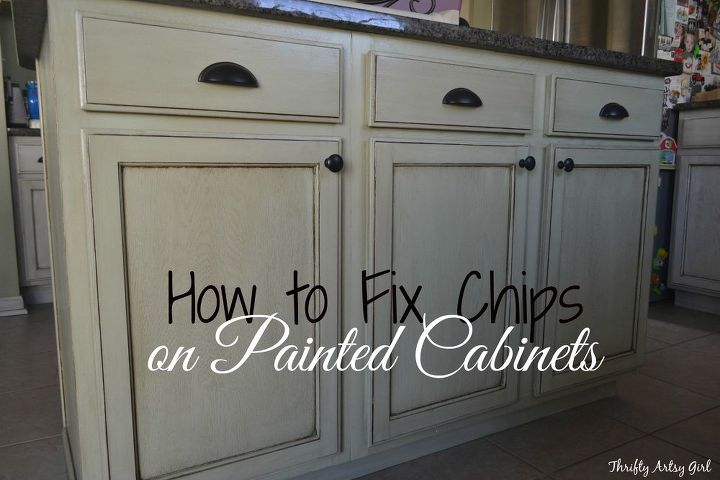 how to touch up chipped paint and maintain painted cabinets hometalk. Black Bedroom Furniture Sets. Home Design Ideas