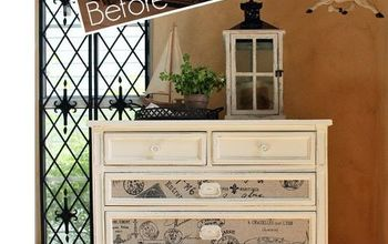 fabric inlaid dresser, painted furniture, repurposing upcycling, reupholster