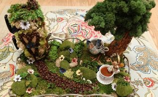 first fairy garden, container gardening, crafts, gardening, how to, repurposing upcycling