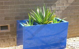 painting an old file cabinet to make a large colorful planter, container gardening, gardening, repurposing upcycling, Beige File Cabinet to Blue Planter with Aloes