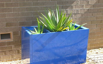 Paint An Old File Cabinet To Make A Large, Colorful Planter