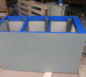 Painting An Old File Cabinet To Make A Large Colorful Planter, Container  Gardening, Gardening