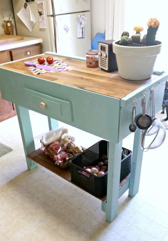 diy kitchen island from scrap wood, kitchen design, kitchen island, woodworking projects