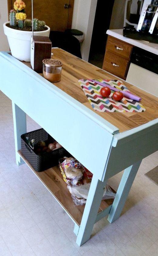 Designing Domesticity Diy Kitchen Island: DIY Kitchen Island From Scrap Wood