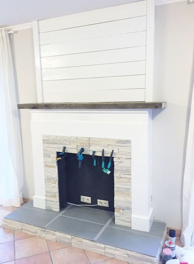 faux for now fireplace, fireplaces mantels, how to