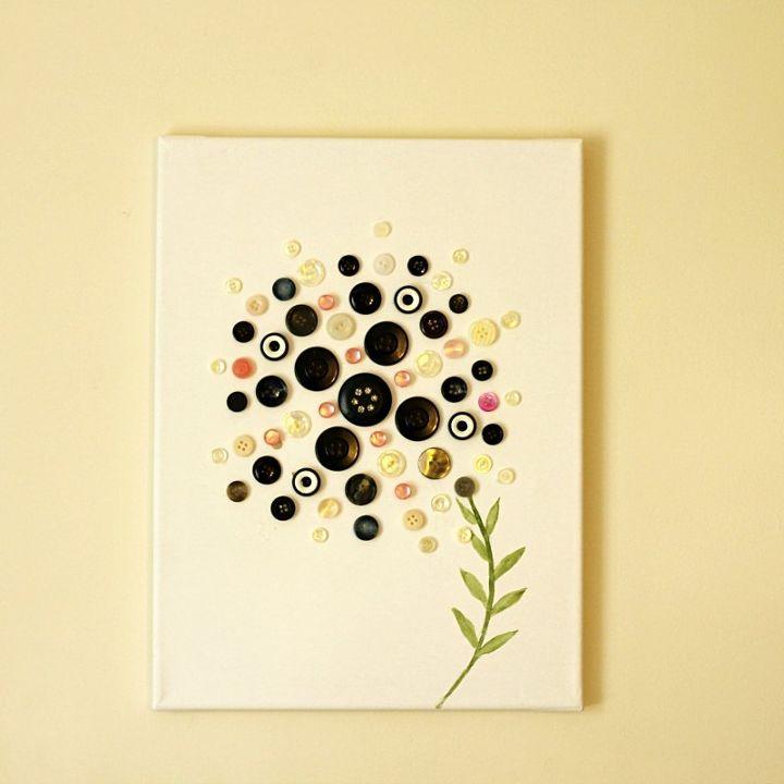 Fun Craft with button Art   Hometalk