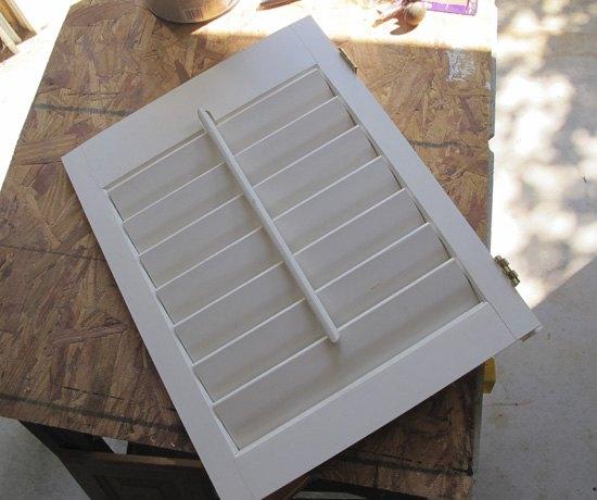 repurposed shutter to jewelry storage, crafts, repurposing upcycling, storage ideas