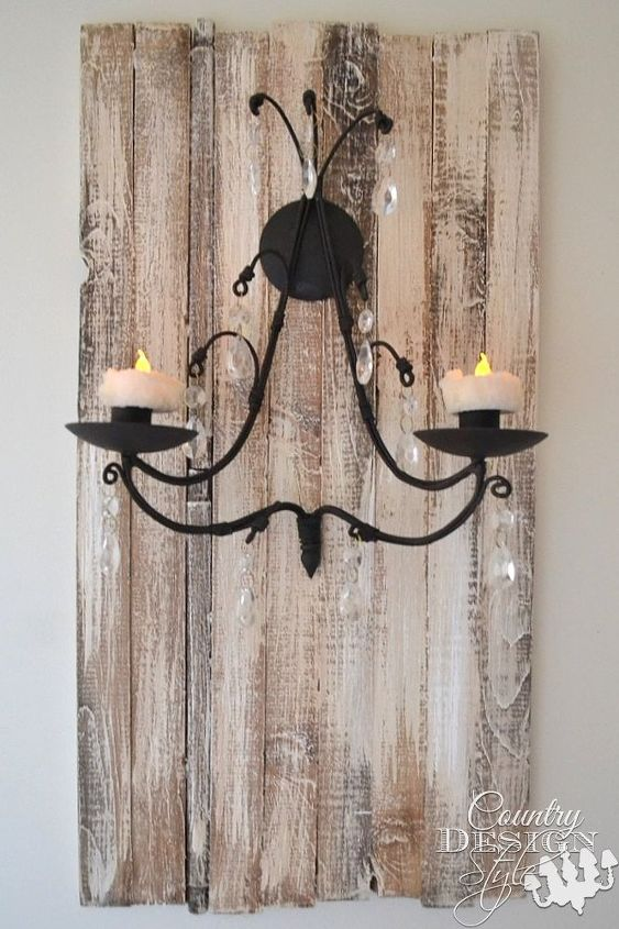 how to upgrade a candle sconce with a plaque, bathroom ideas, lighting, wall decor