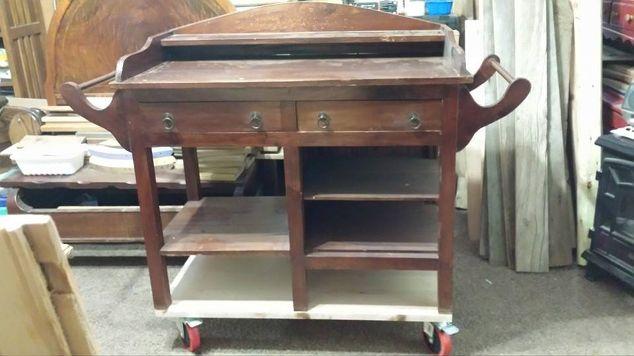 diy barnwood top rustic kitchen island hometalk. Black Bedroom Furniture Sets. Home Design Ideas