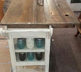 DIY Barnwood top Rustic Kitchen Island Hometalk