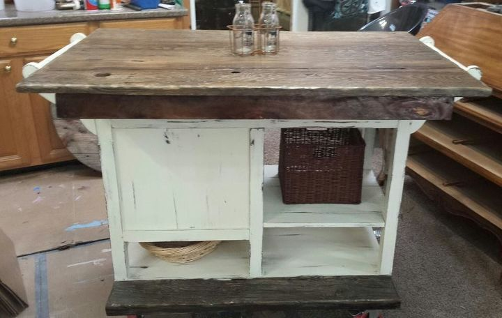 rustic diy dresser kitchen island idea | DIY Barnwood top Rustic Kitchen Island | Hometalk