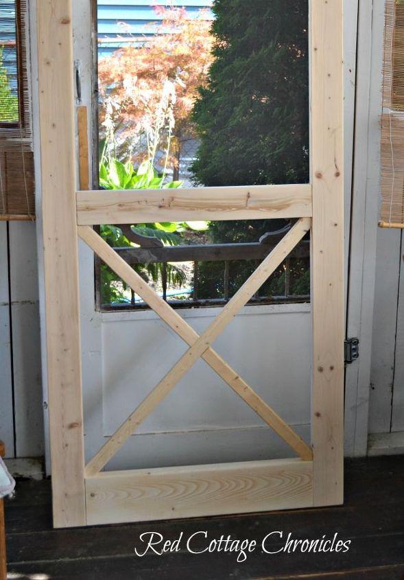 Diy quot chippendale wood screen door hometalk