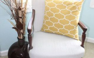 fabric painted chair, painted furniture, reupholster