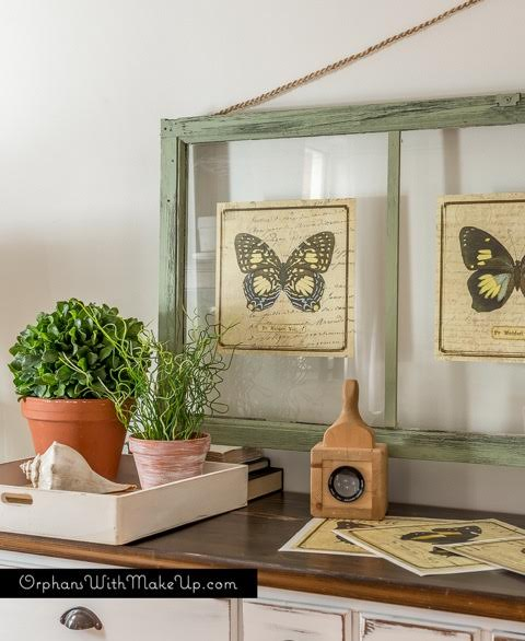 Thow to Turn Old Window Frames into Botanical butterfly Wall Art ...