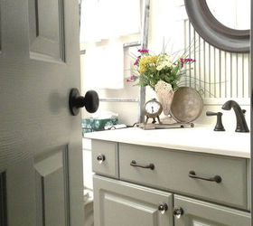 Merveilleux Melamine Powder Room Vanity Makeover Without Stripping Sanding Or Pr, Bathroom  Ideas, Chalk Paint