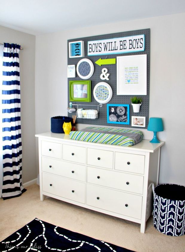 How To Turn A Neutral Guest Room Into A Bright Bold Nursery - Diy baby boy nursery ideas