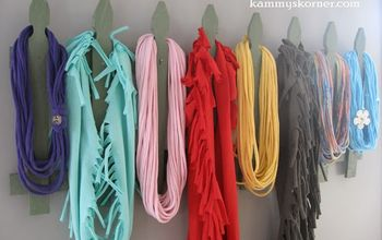 Make A Scarf Rack From Junk (In 30 Minutes)