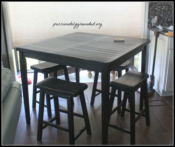 Miraculous Black Pub Table Makeover With Milk Paint Hometalk Onthecornerstone Fun Painted Chair Ideas Images Onthecornerstoneorg