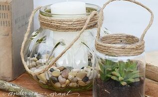 diy glass jar lanterns, crafts, how to, repurposing upcycling