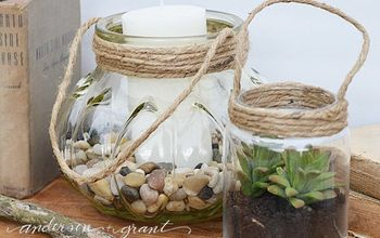 Turn Glass Jars Into Charming Lanterns In 15 Minutes