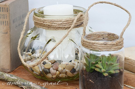 diy glass jar lanterns, crafts, how to, repurposing upcycling