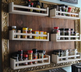 diy ikea hack and vertical storage repurposing upcycling storage ideas & Ikea Hack: Turn Spice Racks and a Large Frame Into Hanging Storage ...