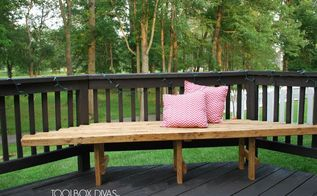 inexpensive diy corner bench, diy, how to, outdoor furniture, woodworking projects