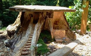11 pictures of crazy cool uses for tree stumps, outdoor furniture, outdoor living, repurposing upcycling, woodworking projects, Photo via Wendy B