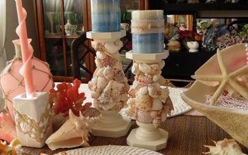DIY Seashell Encrusted Candlestick Tutorial