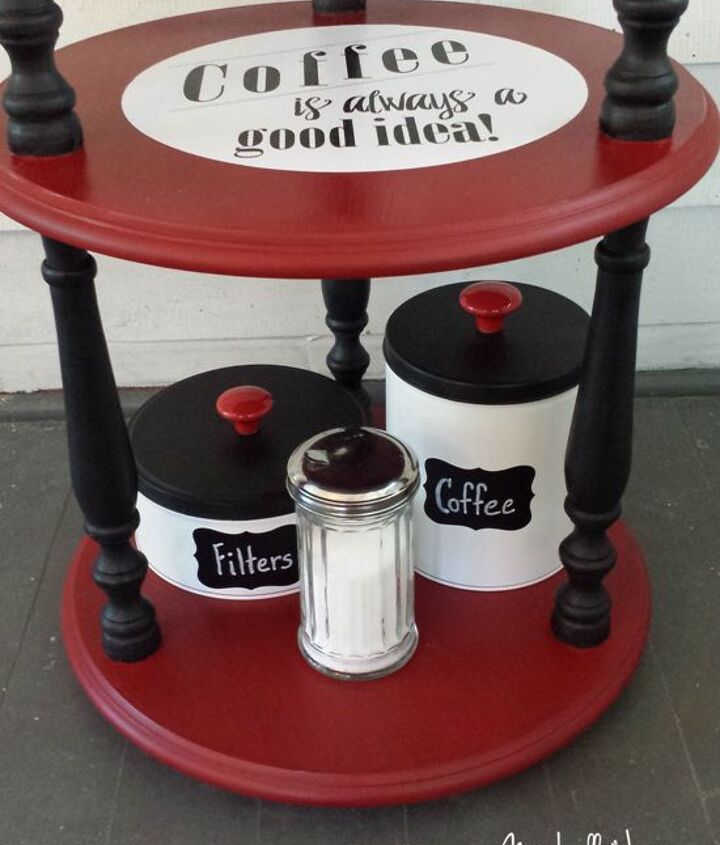coffee station makeover, chalk paint, decoupage, painted furniture, repurposing upcycling