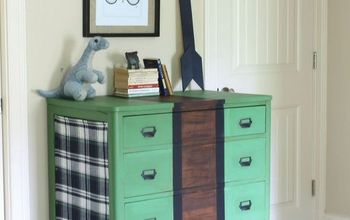 Turn An Old Wooden Dresser Into A Plaid Bedroom Stunner