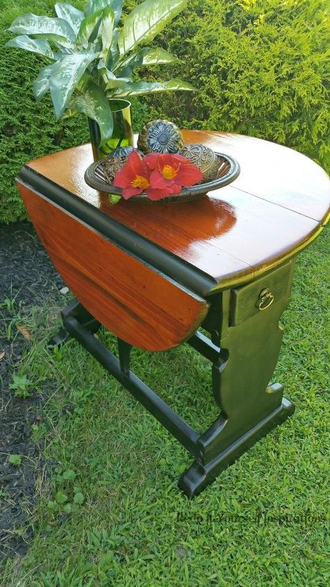 how to upcycle a vintage drop leaf table, how to, painted furniture, repurposing upcycling