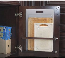Diy Vertical Behind The Cabinet Door Cutting Board Holder, How To, Kitchen  Cabinets,