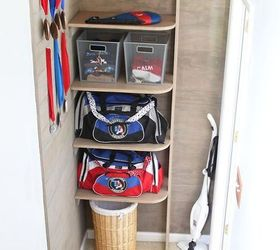 Sports Gear Storage In Small Space Vertical Space, How To, Shelving Ideas,  Storage