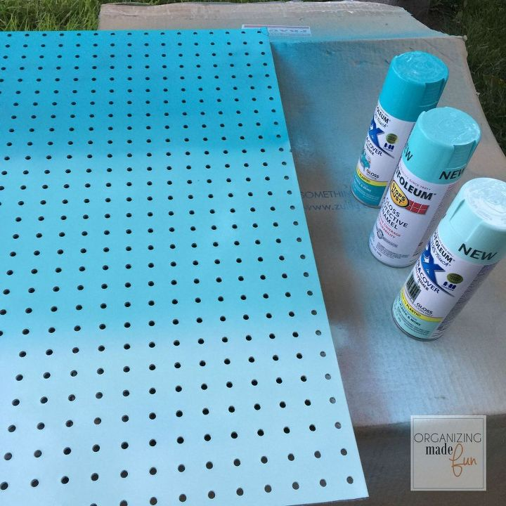 how to hide messy cords with pegboard, home office, how to, organizing