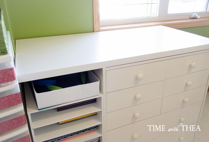 how to create a hidden vertical space to store large size paper, craft rooms, how to, organizing, storage ideas