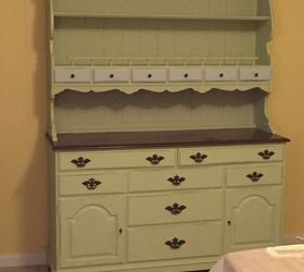 Painted Vintage Ethan Allen Hutch, Painted Furniture
