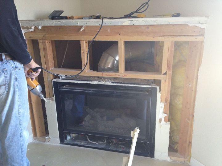 corner gas fireplace makeover, fireplaces mantels, tiling