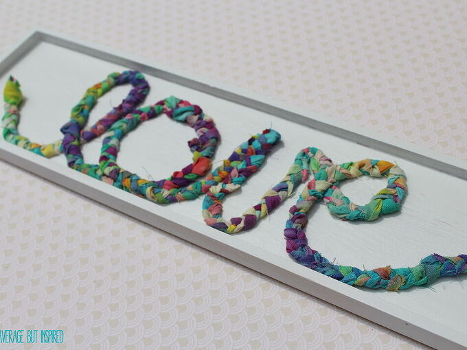 how to use fabric scraps for a cute braided fabric sign, crafts, how to, repurposing upcycling, wall decor