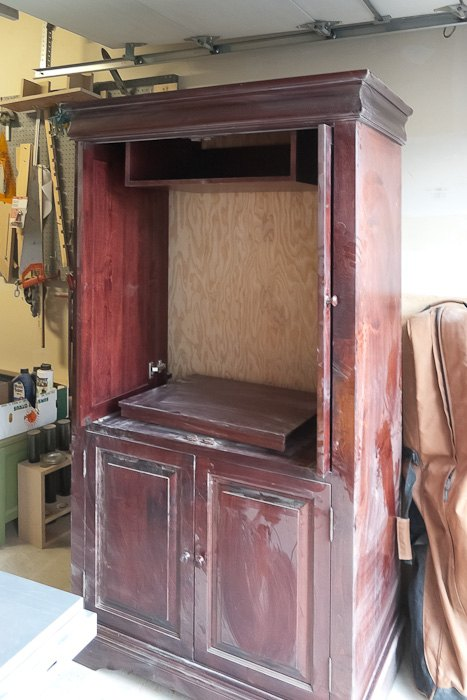 Upcycled Media Cabinet Into Armoire Painted Furniture Repurposing Upcycling