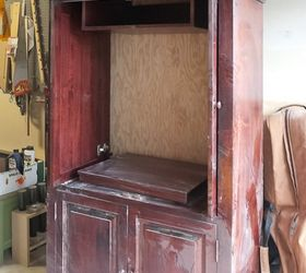 Beau Upcycled Media Cabinet Into Armoire, Painted Furniture, Repurposing  Upcycling