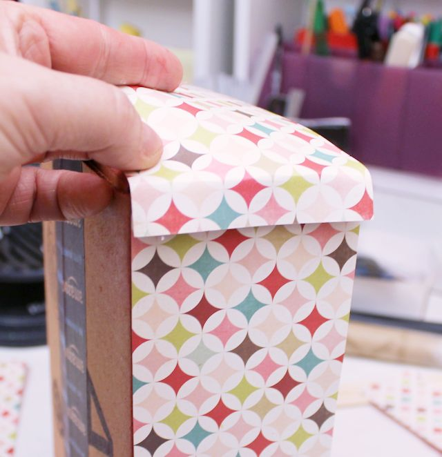 diy washi tape organizer dispensor from a box, craft rooms, crafts, how to, organizing, repurposing upcycling