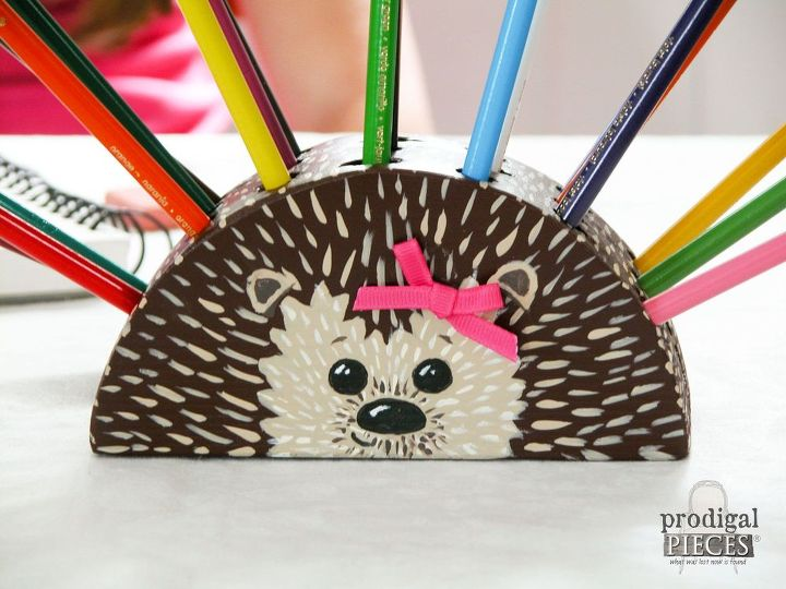 how to build a hedgehog pencil holder power tool challenge, crafts, how to, woodworking projects