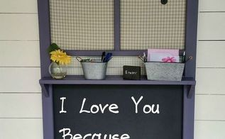 old screen door chalkboard memo board, chalkboard paint, crafts, doors, repurposing upcycling