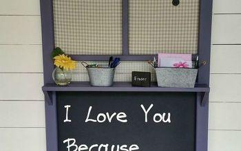 old screen door chalkboard memo board, chalkboard paint, crafts, doors, repurposing upcycling