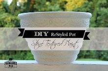 diy stone textured paint, concrete masonry, container gardening, crafts, gardening, painting