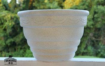 diy stone textured paint, concrete masonry, container gardening, crafts, gardening, painting