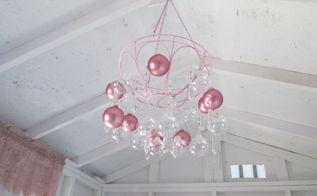 hanging planter turned craft room chandelier, crafts, lighting, repurposing upcycling