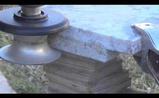 top tip to bullnose granite countertop diy using diamond profile wheel, concrete countertops, countertops, how to, tools, How to Create Bullnose Granite Countertop DIY