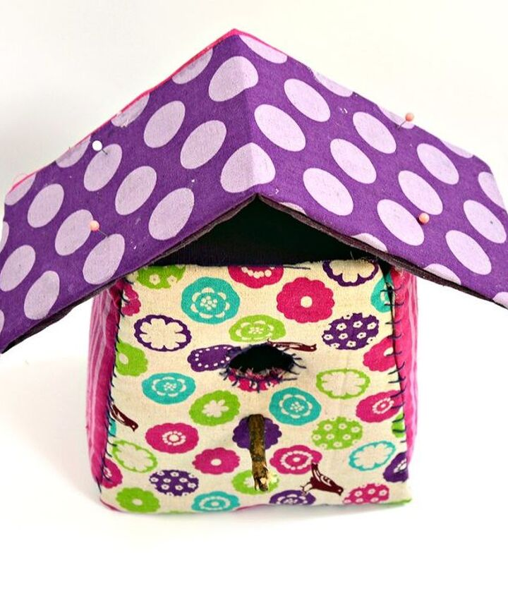 decorate your home with some gorgeous scrap fabric birdhouses, crafts, how to, reupholster